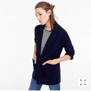 J Crew Sophie Open-Front Sweater Blazer Navy